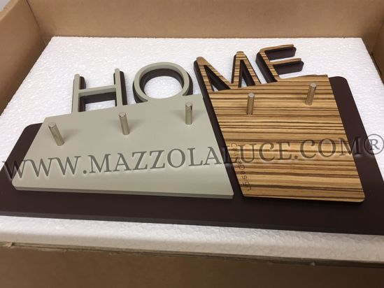 Picture of CALLEA DESIGN HOME WALL KEY HOLDER IN ZINGANA COLOUR MODERN DESIGN