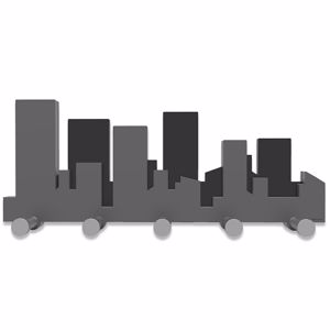 Picture of CALLEA DESIGN SKYLINE COAT RACK QUARTZ GREY