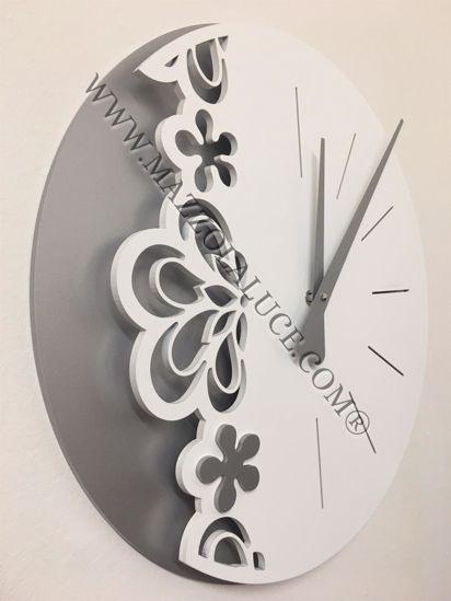 Picture of CALLEA BIG MERLETTO WALL CLOCK Ø45 IN WHITE COLOUR