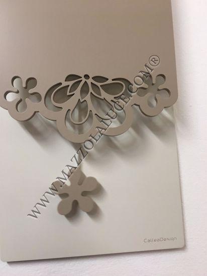 Picture of CALLEA DESIGN MERLETTO PENDULUM WALL CLOCK ORIGINAL DESIGN IN CAFFELATTE COLOUR