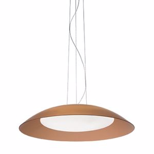 Picture of IDEAL LUX LENA MODERN GLASS PENDANT LAMP SP3 D64 BROWN