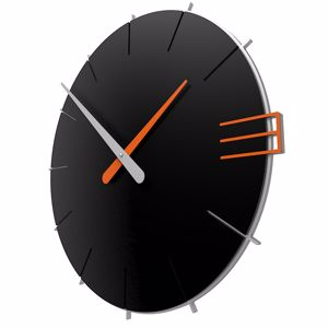 Picture of CALLEA DESIGN MIKE MODERN WALL CLOCK IN BLACK COLOUR
