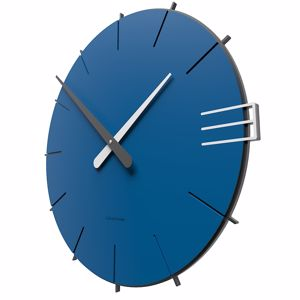 Picture of CALLEA DESIGN MIKE MINIMAL WALL CLOCK IN ELECTRIC BLUE COLOUR