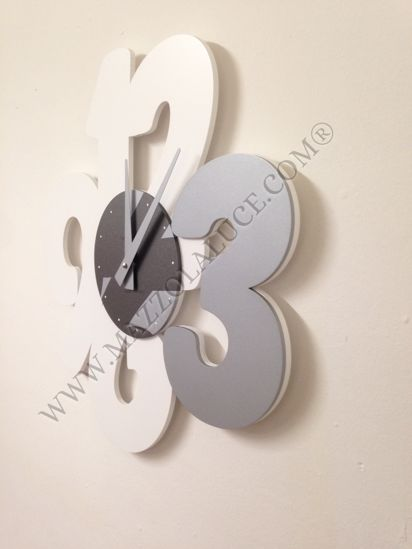Picture of CALLEA DESIGN TRANSPARENCIES MODERN WALL CLOCK WHITE