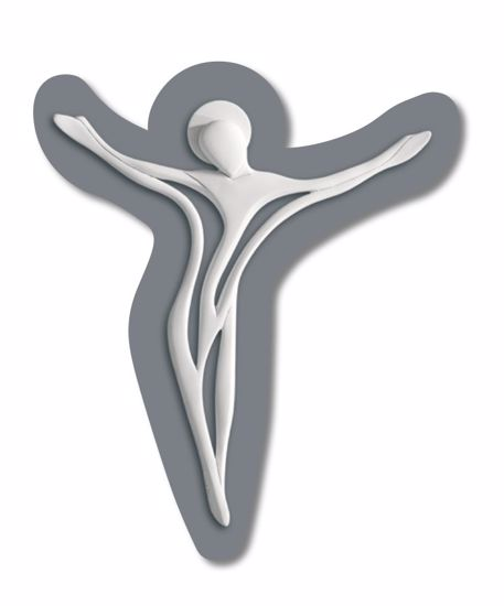 Picture of MODERN WALL CRUCIFIX WHITE AND GREY