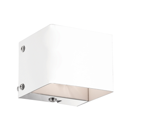Picture of IDEALLUX FLASH AP1 WHITE RECTANGULAR WALL LAMP IN WHITE METAL