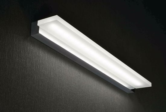 Picture of LED BATHROOM MIRROR LIGHT POLISHED CHROME LUMINOUS SHELF