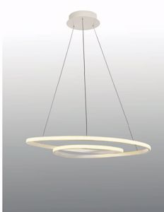 Picture of LAMPADARIO MODERNO 80CM DESIGN BIANCO LED 60W 3000K LUCE DIMMERABILE