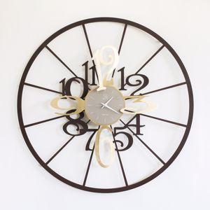 Picture of ARTI E MESTIERI KALESY WALL CLOCK CORTEN AND GOLD