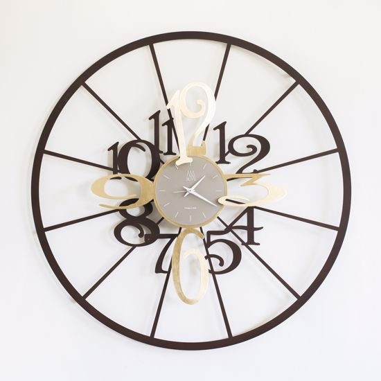 Picture of ARTI E MESTIERI KALESY WALL CLOCK CORTEN AND GOLD