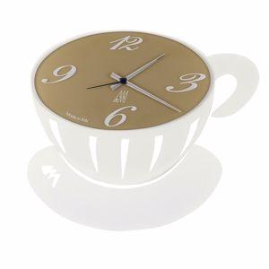 Picture of ARTI E MESTIERI PAUSE WALL CLOCK WHITE CUP-SHAPED