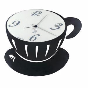 Picture of ARTI E MESTIERI PAUSE WALL CLOCK BLACK CUP-SHAPED