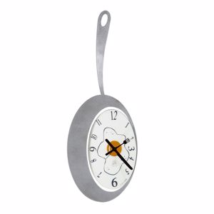 Picture of ARTI E MESTIERI OMELETTE WALL CLOCK ALUMINIUM MODERN DESIGN FOR KITCHEN