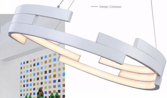 Picture of MODERN LED PENDANT LIGHT 94W 3000K Ø55 WHITE METAL