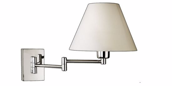 Picture of BEDSIDE ADJUSTABLE CHROME LAMP WITH SHADE