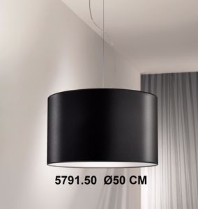 Picture of ANTEA LUCE ZUNA NOIR PENDANT LAMP Ø50 BLACK FABRIC