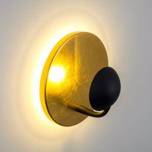 Picture of APPLIQUE LED 2X3W 3000K METALLO ORO NERO DOPPIA ILLUMINAZIONE DESIGN MODERNO