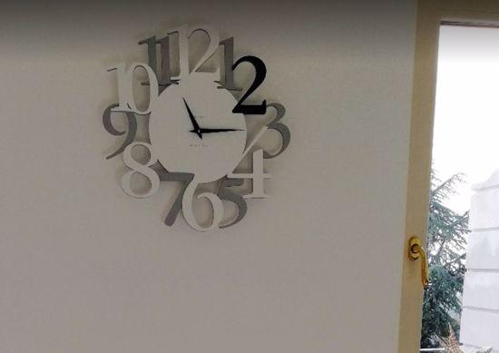 Picture of CALLEA DESIGN RUSSELL ORIGINAL WALL CLOCK BLACK COLOUR