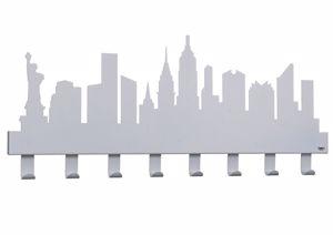 Picture of ARTI E MESTIERI NEW YORK APPENDI ABITI DA MURO MODERNO GRIGIO ALLUMINIO