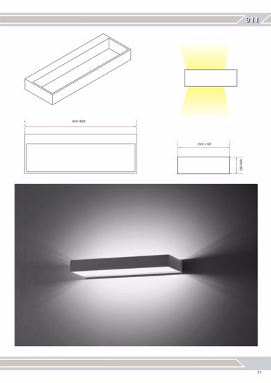 Picture of LED WALL LIGHTS 12W 40CM SLIM WHITE METAL DESIGN BY ISYLUCE