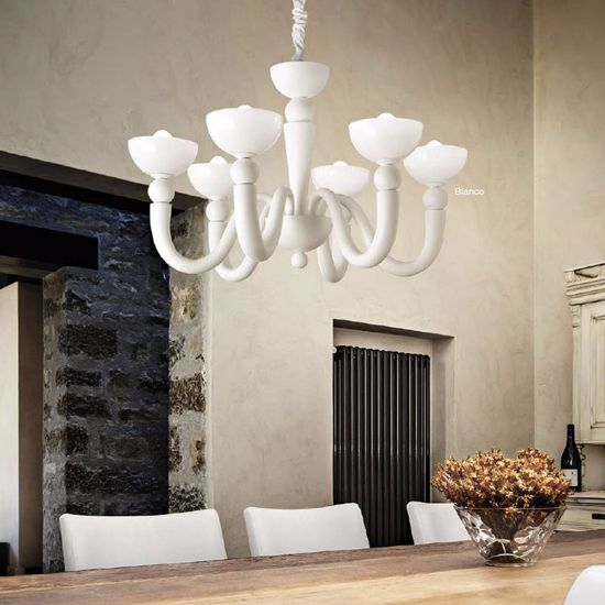 Picture of IDEALLUX BONBON SP6 LAMP GLASS WHITE CONTEMPORARY STYLE ELEGANT