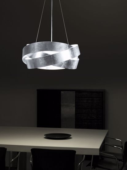 Picture of MARCHETTI PURA PENDANT LIGHT SILVER LEAF