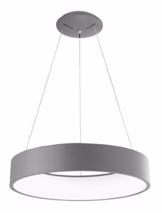 Picture of MODERN PENDANT LIGHT LED 42W 3000K Ø60 GREY METAL RING SHAPED