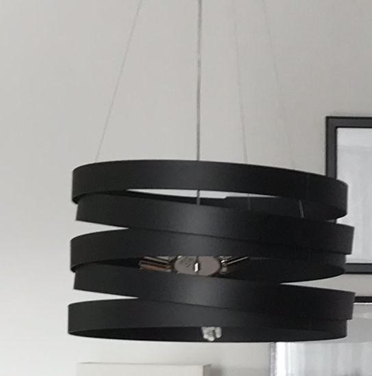 Picture of MARCHETTI BAND SUSPENSION IN BLACK METAL 50CM 3 LIGHTS E27