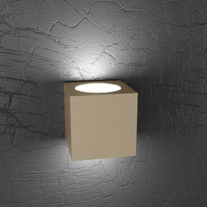 Picture of APPLIQUE CUBO LED METALLO TORTORA PER INTERNI TOP LIGHT PLATE