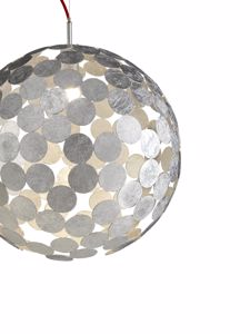 Picture of DIVISUAL PLANET-O SUSPENSION SPHERE Ø50CM IN METAL SILVER LEAF