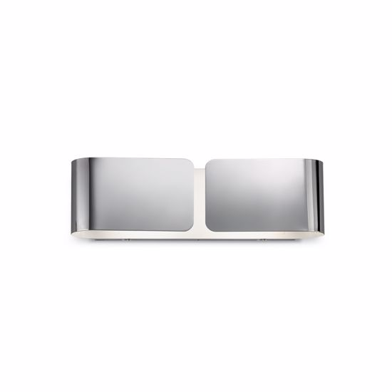 Picture of IDEAL LUX CLIP AP2 SMALL WALL LAMP IN CHROME FINISHED METAL