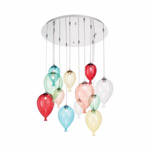 Picture of IDEALLUX CLOWN SP12 MULTICOLOUR CHANDELIER BALLOONS