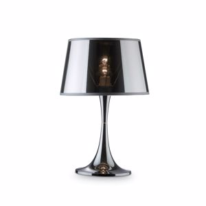 Picture of IDEALLUX LONDON TL1 BIG TABLE LAMP MODERN METAL CHROME MIRRORED SHADE