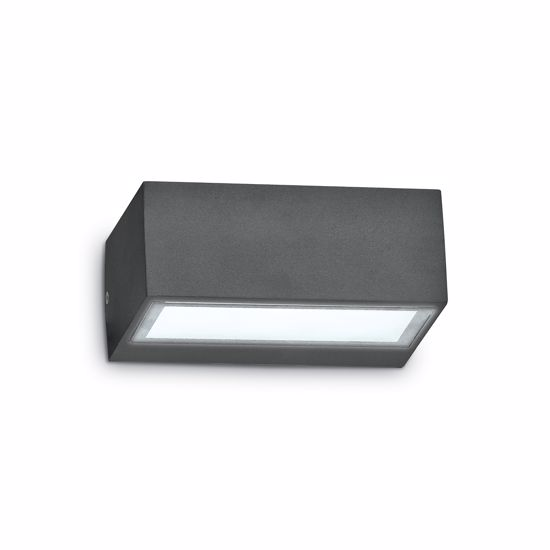 Picture of ANTHRACITE WALL LIGHT LITTLE IP44 RECTANGULAR FOR OUTDOOR LIGHTING