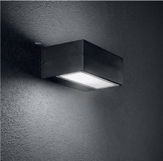 Picture of WHITE LITTLE RECTANGULAR WALL LIGHT OUTDOOR IDEAL LUX TWIN AP1