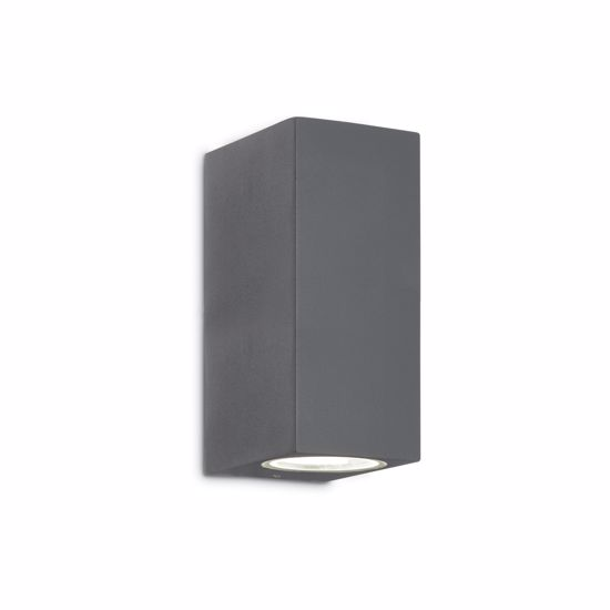 Picture of ANTHRACITE PARALLELEPIPED WALL LIGHT FOR OUTDOOR IDEAL LUX UP AP2
