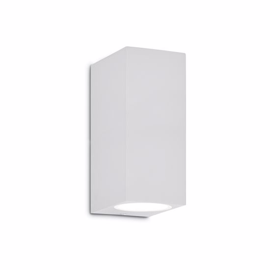 Picture of WHITE WALL LIGHT PARALLELEPIPED FOR OUTDOOR IP44 IDEAL LUX UP AP2