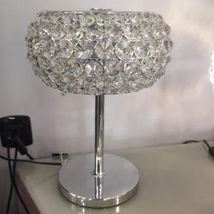 Picture of ILLUMINATI BEDSIDE LIGHT WITH CRYSTALS 35CM