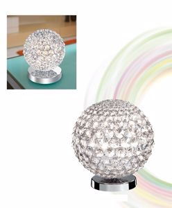 Picture of ILLUMINATI TABLE LAMP CRYSTAL SPHERE 15CM 1 LIGHT
