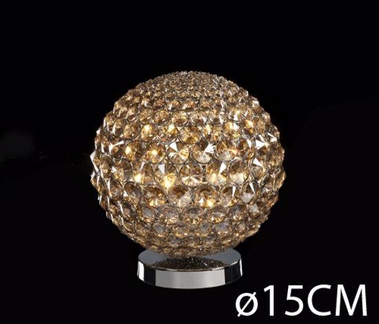 Picture of ILLUMINATI TABLE LAMP CRYSTAL SPHERE 15CM 1 LIGHT
