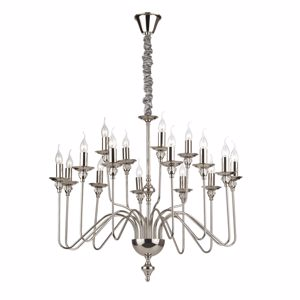 Picture of IDEAL LUX ARTU SP16 CHROME PENDANT LAMP AND CRYSTAL