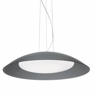 Picture of IDEAL LUX LENA MODERN GLASS PENDANT LAMP SP3 D64 GREY