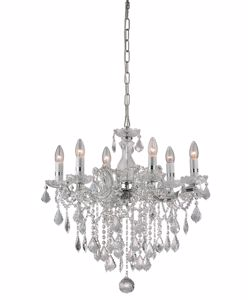 Picture of IDEAL LUX FLORIAN CRYSTAL PENDANT LAMP SP6 CHROME