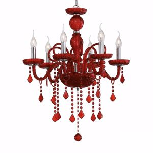 Picture of IDEAL LUX GIUDECCA CRYSTAL PENDANT LAMP SP6 RED