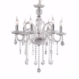 Picture of IDEAL LUX GIUDECCA CRYSTAL PENDANT LAMP SP6 TRANSPARENT