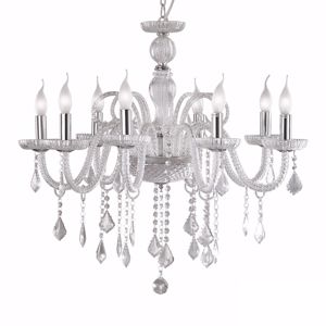 Picture of IDEAL LUX GIUDECCA CRYSTAL PENDANT LAMP SP8 TRANSPARENT