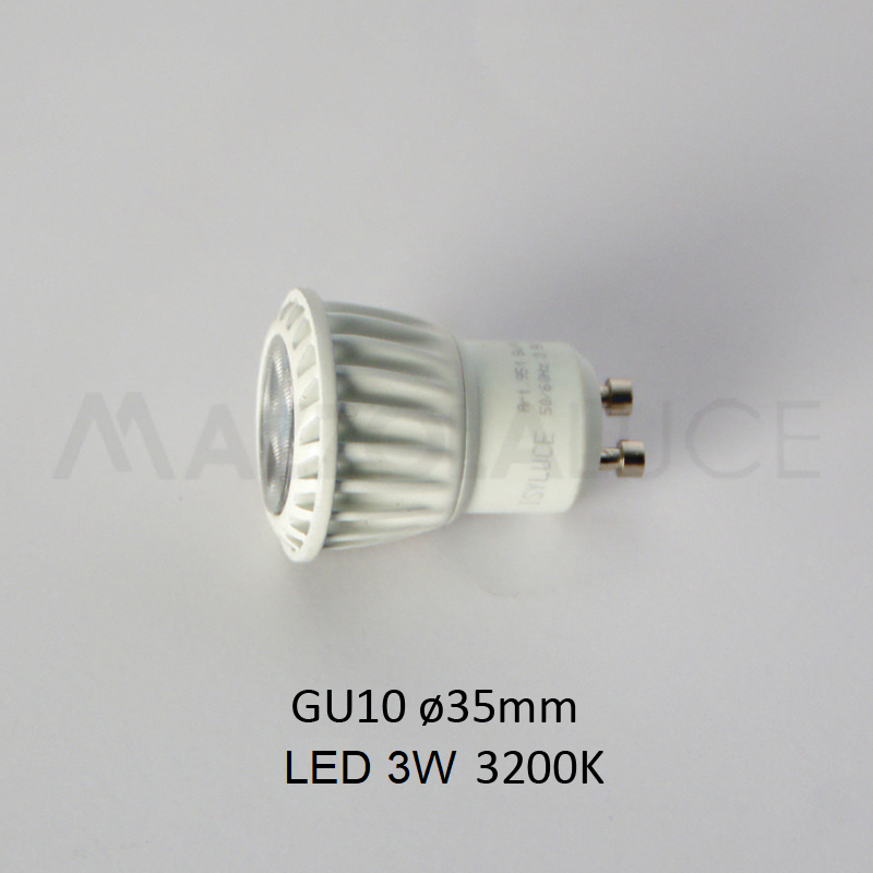 Lampadina Led 3w.Isyluce Bulb Led Gu10 35mm For Footpath 822 And 823