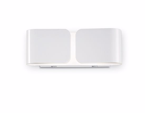 Picture of IDEAL LUX CLIP AP2 MINI WALL LAMP IN WHITE FINISHED METAL