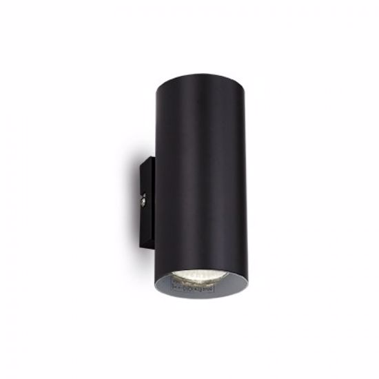 Picture of IDEALLUX HOT AP2CYLINDRICAL WALL LAMP DOUBLE EMISSION BLACK