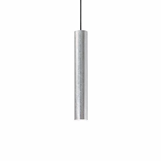 Picture of CYLINDER KITCHEN ISLAND PENDANT LIGHT IN SILVER LEAF MODERN DESIGN